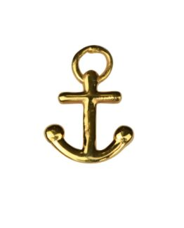 atn1024_Dangling earrings gold- anchor
