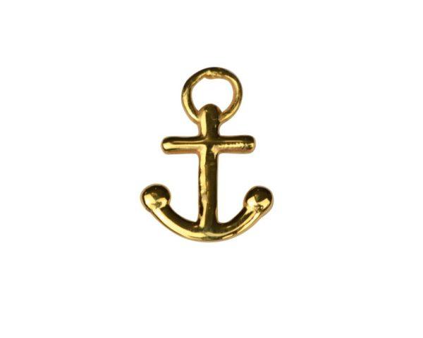 atn1024_Dangling earrings gold- anchor