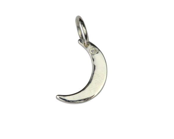 atn1024_Dangling earrings silver- moon