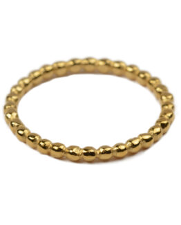 Tiny ring gold- dots