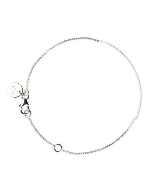 Minimalistica Narrow Line Bracelet Silver