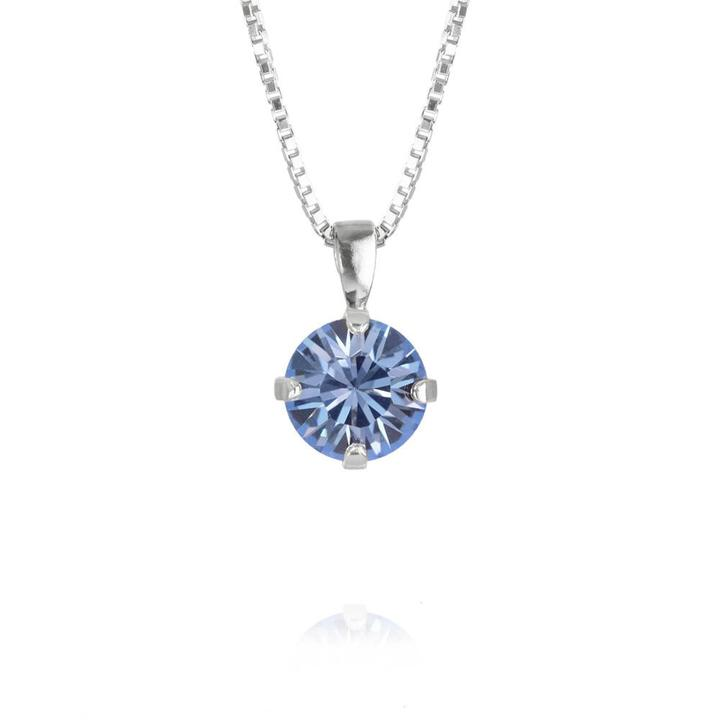 Classic-Stud-Necklace-Light-Sapphire_Rhodium
