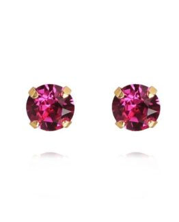 Classic_Stud_Earrings_Fuchsia