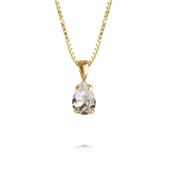 PetiteDropNecklace_Crystal_Gold
