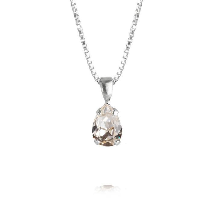 PetiteDropNecklace_Crystal_Rhodium